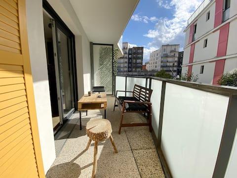 Charmant 2 pièces avec balcon aux portes de Paris