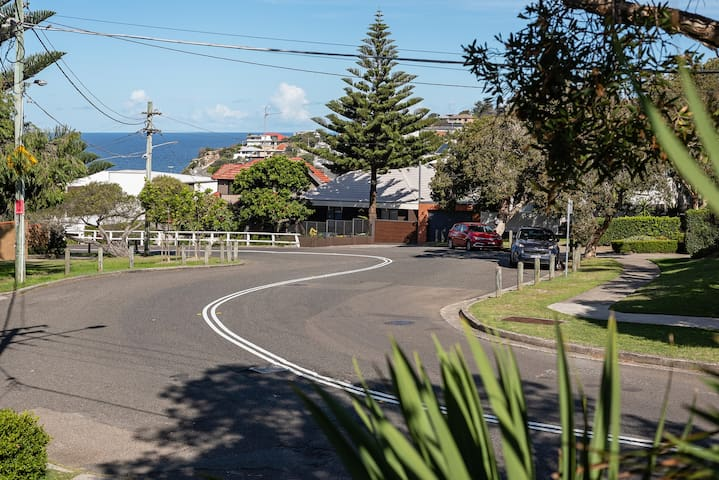 View from your front door with the beach just round that bend