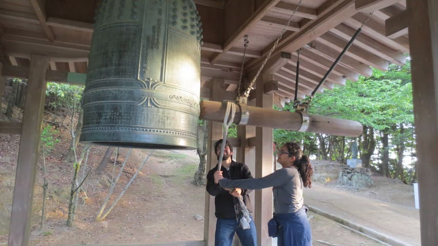 Big bell at Mt.Shosha-Engyouji-temple. 在书写山撞大钟