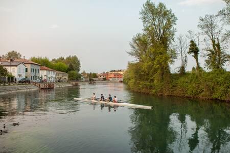 House in natural park along the river - Treviso - Reihenhaus
