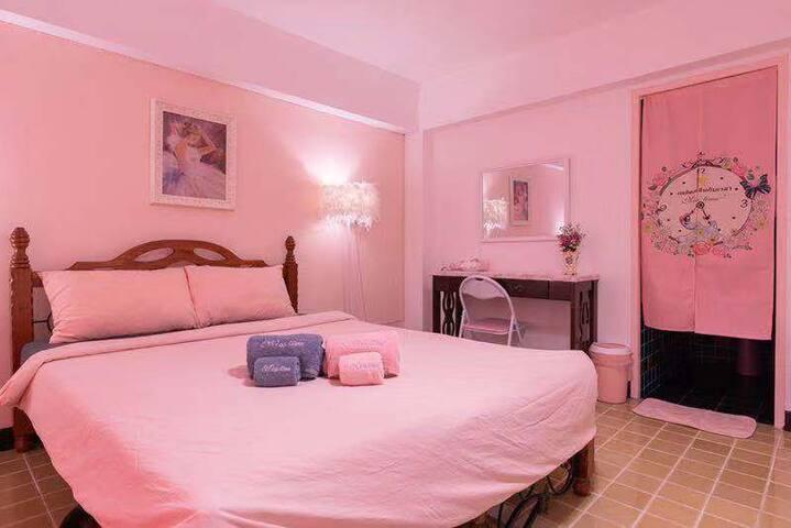 pink house 市区内精品公寓单房 管家服务 免费早餐和下午茶 3天起免费接机
