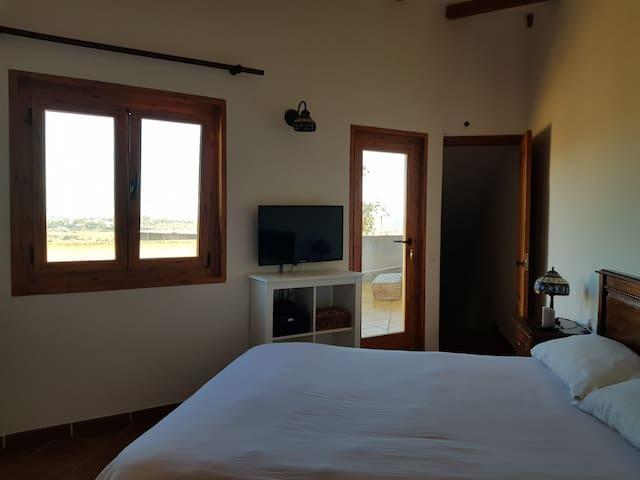 Habitacion doble, baño en suite, terraza privada