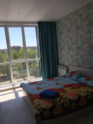 Квартира с панорамным видом, «Дизель Арена»,10 мин.  до Центра города,размещение до 6 человек