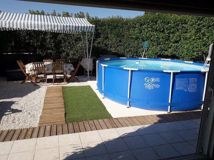 Maison-Villa climatisée à 5 minutes des plages