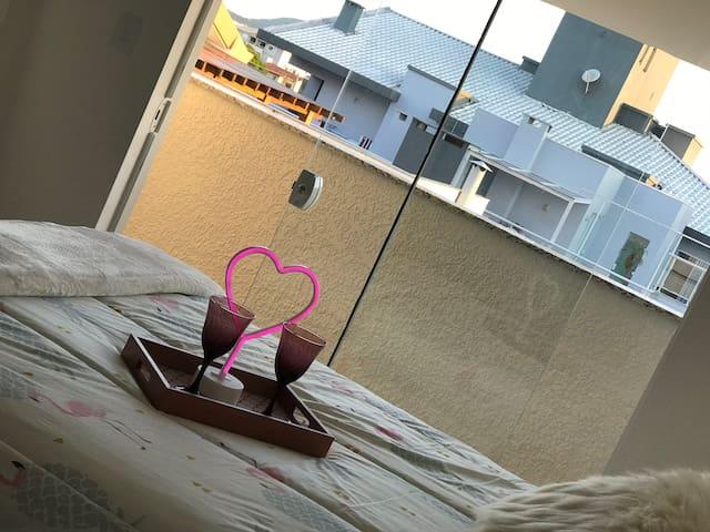 Dormitório sótão - vista da varanda