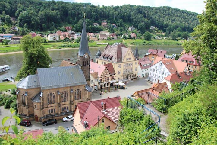 Stadt Wehlen Markthaus - FeWo - Apartment