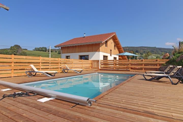 Chalet moderne avec piscine et spa - 6 personnes