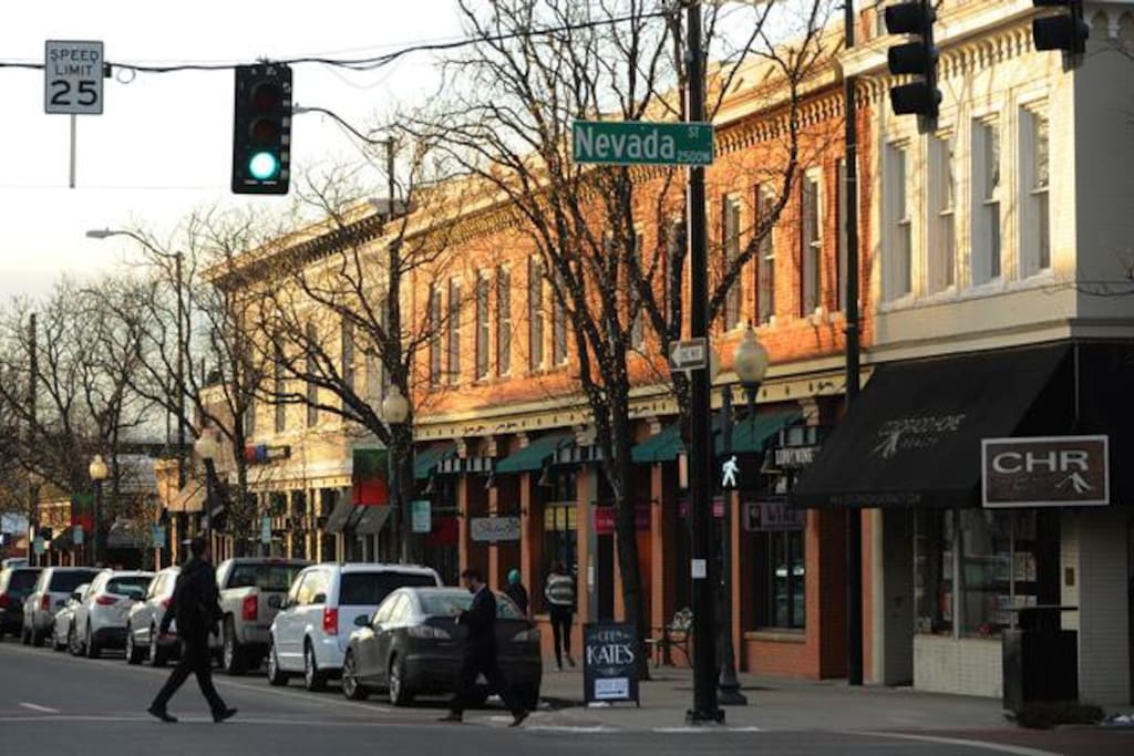 Historical Downtown Littleton during Christmas.