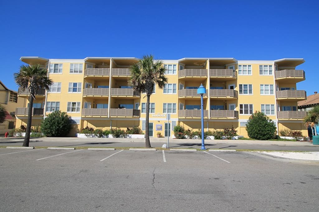 This deluxe condo complex is located ocean front in the heart of all the action and features panoramic views of Tybee Beach and the Atlantic Ocean