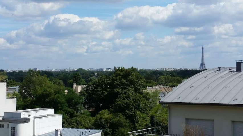 Appartement à Suresnes avec vue sur Tour Eiffel - Suresnes - Wohnung