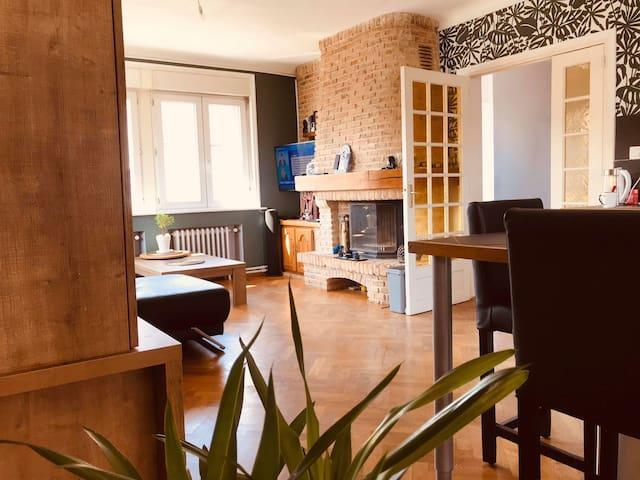 Appartement 68m2 tout confort. Déplacements pro