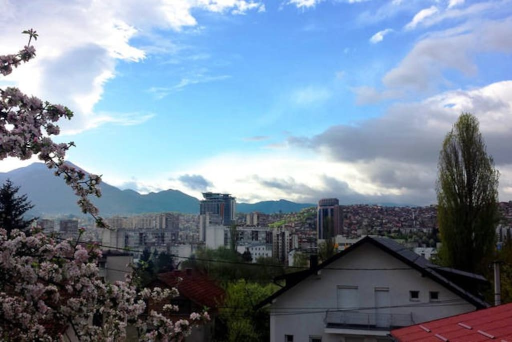 The apartments and rooms offer an amazing view of the Sarajevo city.