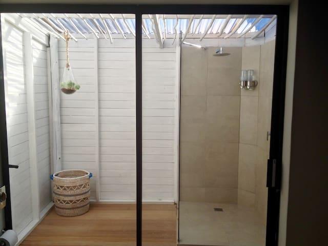 Outside shower off main bathroom