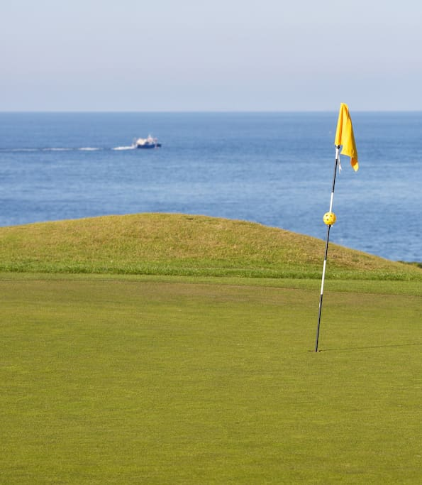 Near the medieval town of Sandwich and its famous Links golf courses.