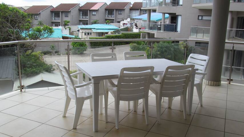 Fully secured self-catering apartment with pool.