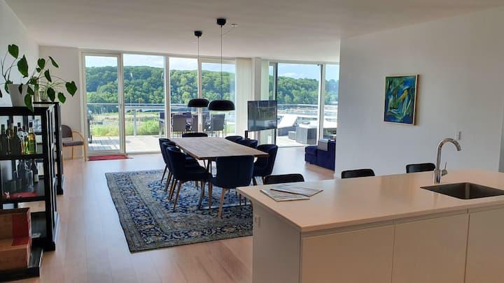 Penthouse appartement in Aarhus Ø.