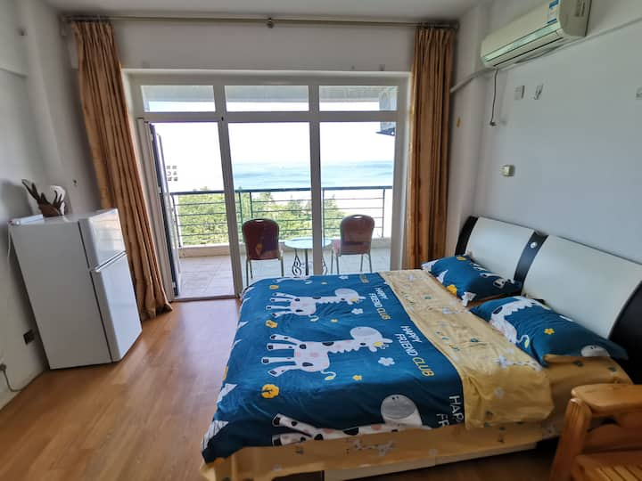 国际海景城 一线海景 双床空调房