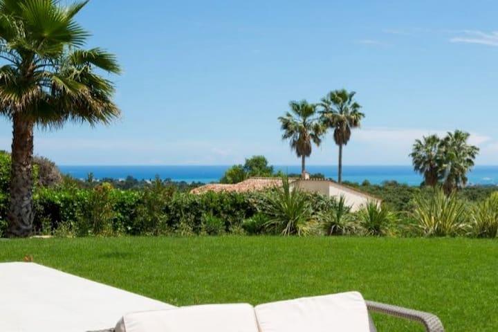 Valbonne Villa vue Mer - Calme absolu
