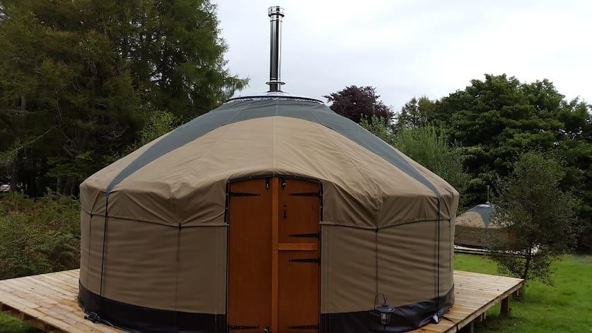 Glamping at Skye Yurts- Water Yurt