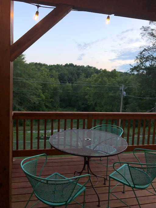 Relax with your coffee on the deck.