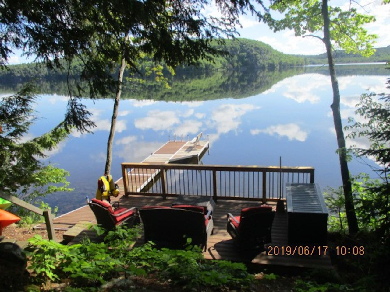 Your paradise! Waterfront deck,  30' dock, bench and swim ladder, million dollar view!