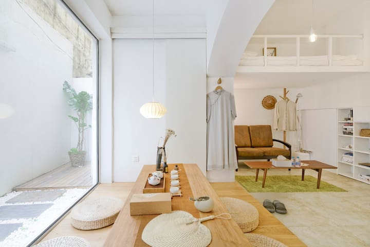 Minimalist Tearoom Loft in the French Concession
