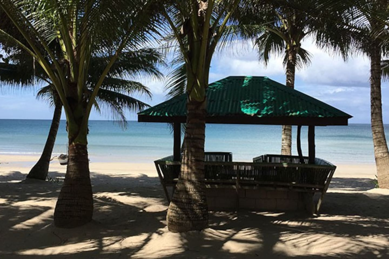 Private Beach facing West towards Boracay