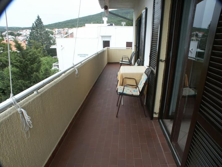 Two bedroom apartment with terrace and sea view Selce, Crikvenica (A-2361-a)