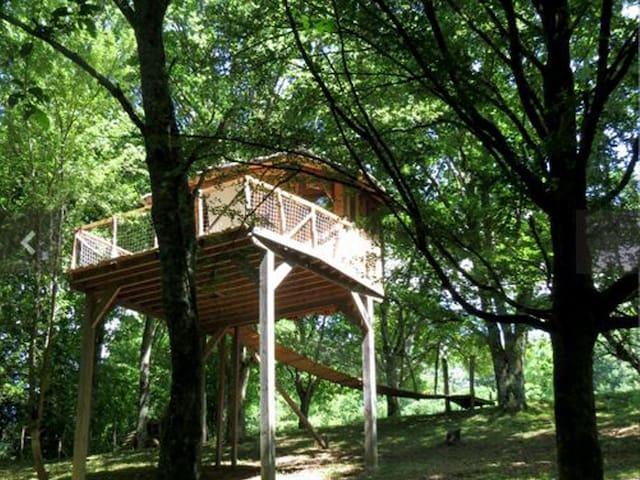 Log Cabin-Romantic-Ensuite-Countryside view-Dans les arbres