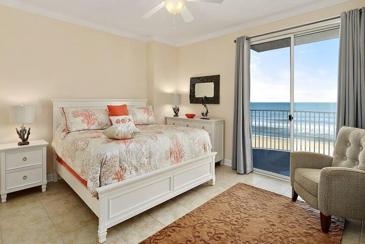 Direct Ocean Front Master Bedroom opens to Ocean Front Balcony