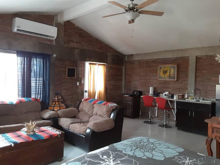Apartamento rustico muy acogedor tipo cabaña.