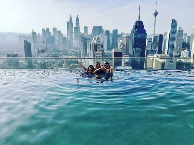 Kuala Lumpur, Service Apartment with infinity pool