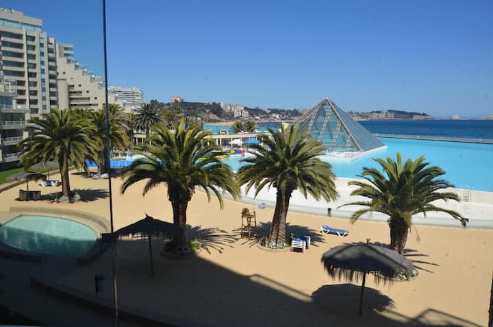 San Alfonso del mar, depto de lujo, lavadora,wi fi