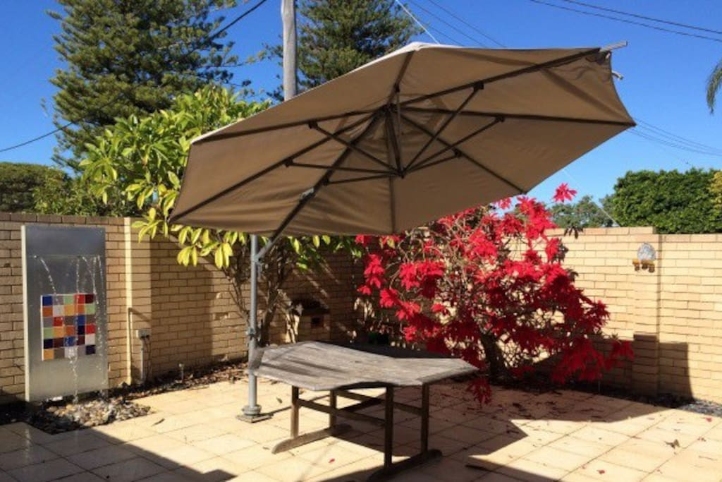 Large alfresco area for entertaining (umbrella and table has been removed).