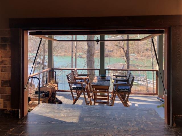 Keowee Rustic Industrial Lake Front Retreat