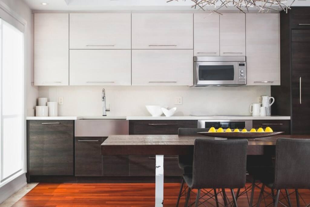 Partial kitchen view.