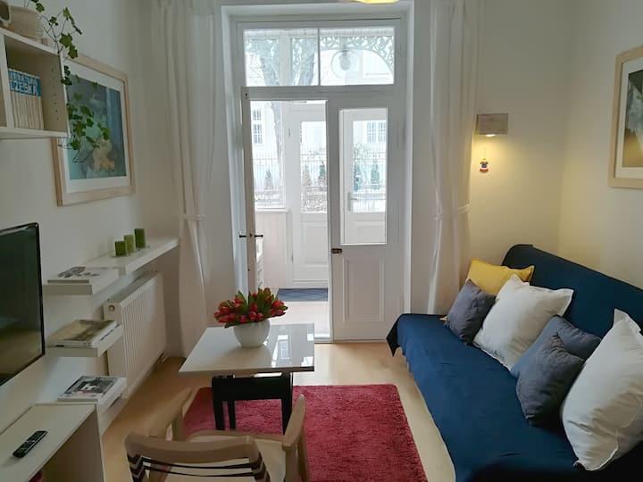 Gdańsk Wrzeszcz -apartament z werandą i ogródkiem