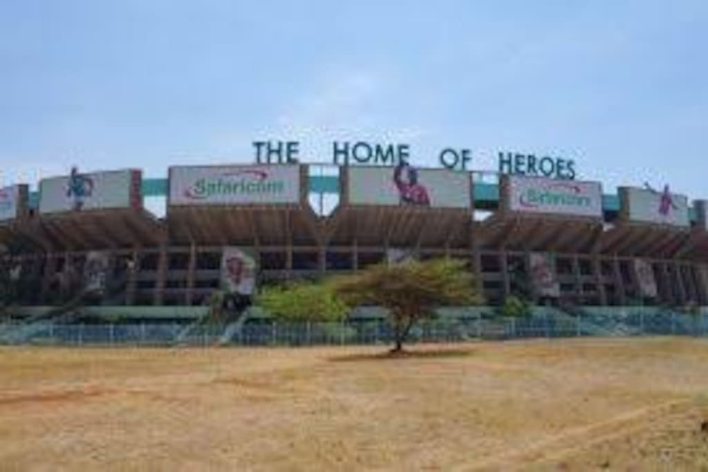 Get full view of kasarani stadium which is 5 mins away.