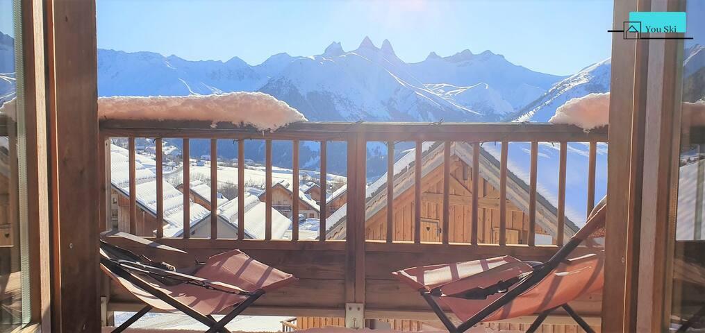 K34 - Appartement 6 personnes skis aux pieds
