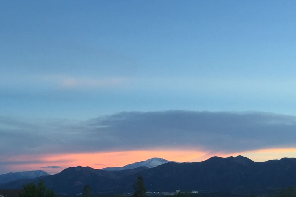 Beautiful views of Pike's Peak and the Front Range