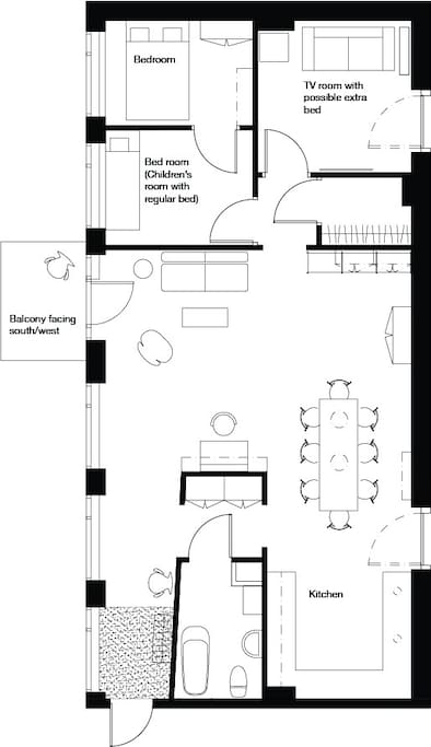 Floor plan of the apartment.