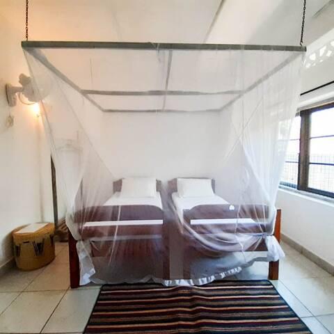 Superior Sea View Twin Room at Baobab Beach House