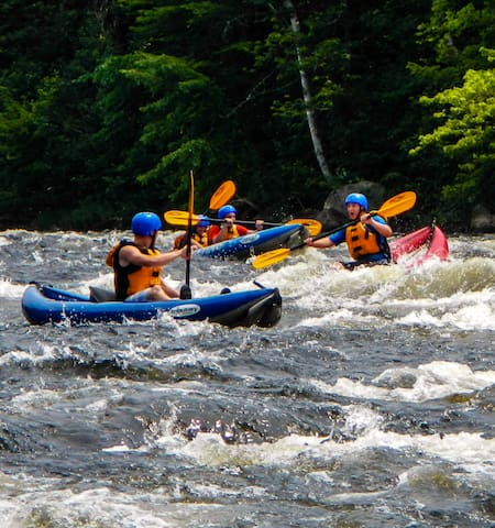 The rapid is right beside the house and you can get 10% off paddling and rafting with ELC Outdoors when you stay at The River House