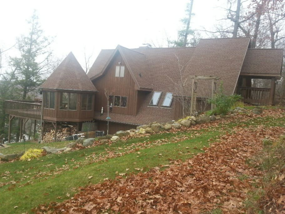Side view of home overlooking the Wisconsin River