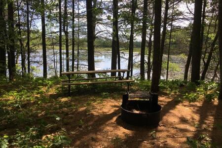 Keizer Lake Campsite on Burnett County Forest