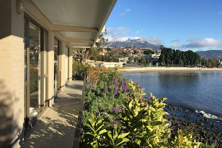 Stunning waterfront apartment - Sandy Bay