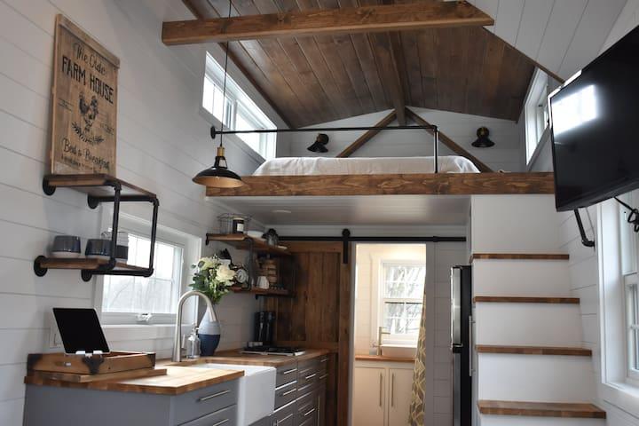 Farmhouse Tiny Home on Tiny Estates 14 Acres
