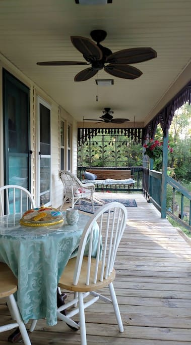 Private porch with swing, dining or just relaxing