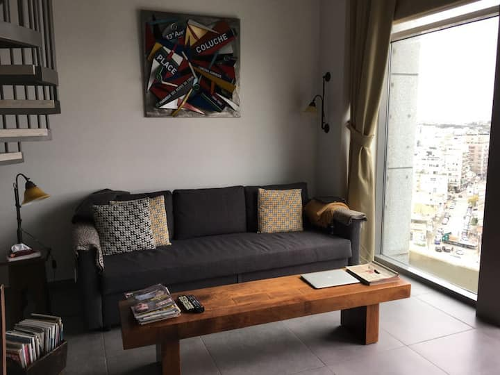 1 Bedrooms Stylish Loft- Neve Tzedek Tower - TLV