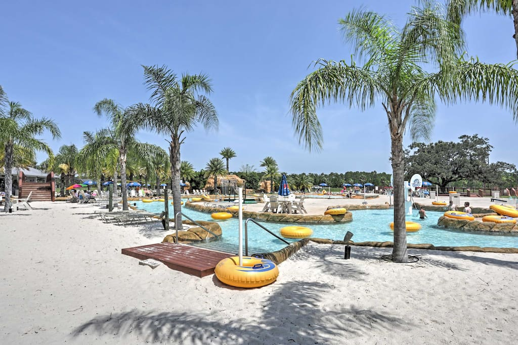 Grab a float to relax in the complex's lazy river.